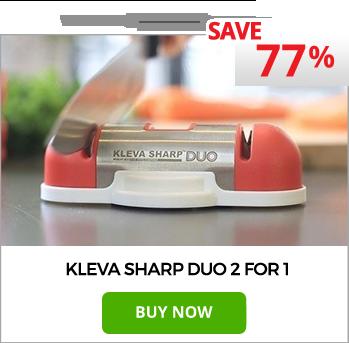 Kleva Sharp DUO - The Next Generation 2 in 1 Knife Sharpener!