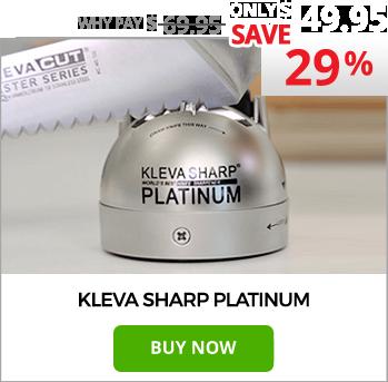 Kleva Sharp Platinum The Worlds Best 2 in 1 Knife Sharpener!